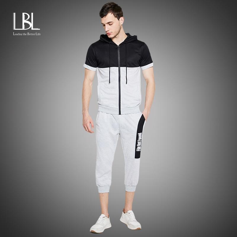 Summer Hooded Set Men 2020 Zipper Jacket + Sweatpants Tracksuit Casual Hoody Set Fashion Two Pieces Sportswear Suit Outwear Set