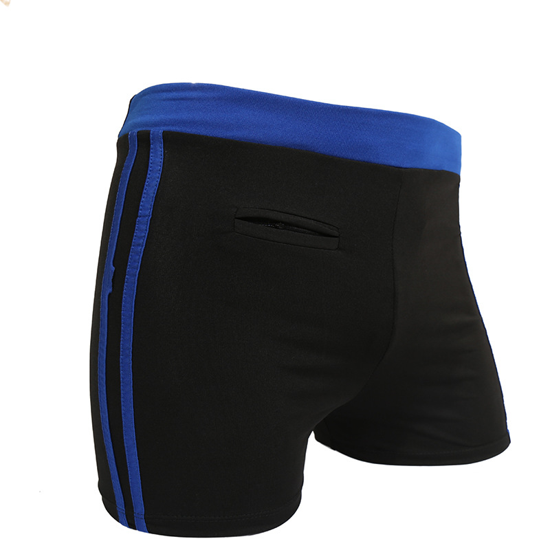 New Style Fashion Men Plus-sized Swimming Trunks Seaside Beach Quick-Drying Loose-Fit Mixed Colors Stripes Boxers