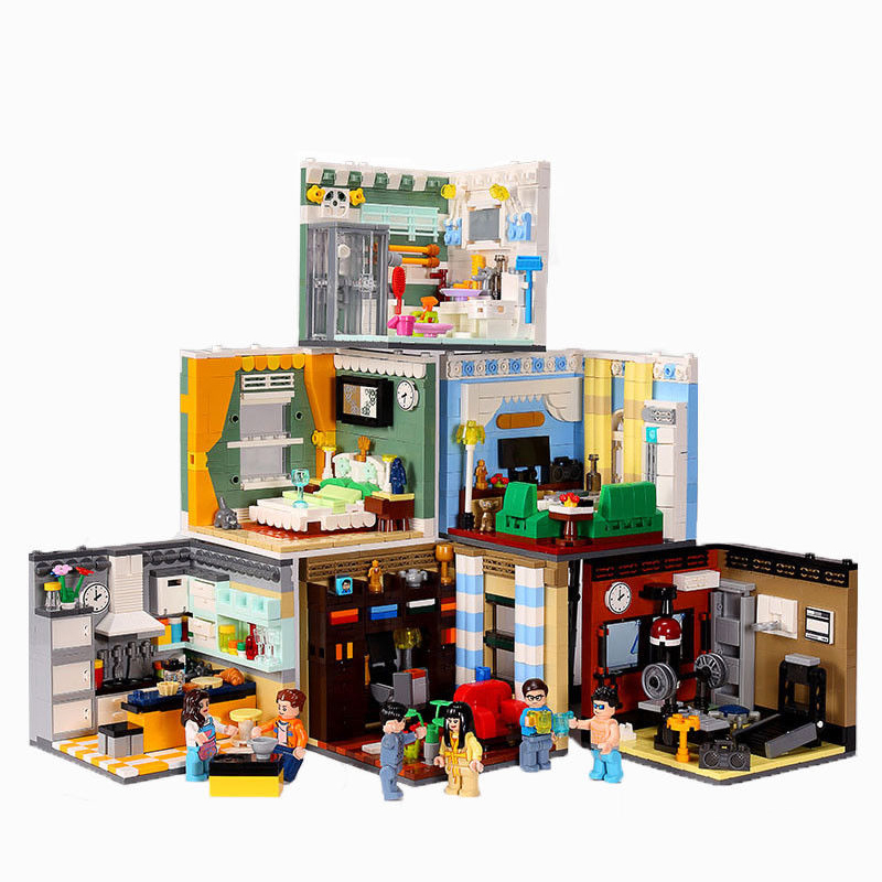 MEOA NEW 6 IN 1 House Model Mini Home Furnishing Building Blocks Friends Constructor MOC Bricks Educational Toys Christmas Gifts