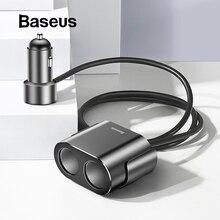 Baseus Dual USB Автомобильное зарядное устройство 3.1A 100 Вт разветвитель гнезда прикуривателя для Iphone XS 11 samsung телефон автомобильное зарядное устройство авто расширитель