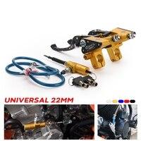 Motorcycle Universal Brake Pump Lever Adjustable Handle Hydraulic clutch Pump Master Cylinder Racing For Kawasaki Yamaha Suzuki