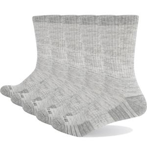 Image 3 - YUEDGE Marke frauen Bunte Baumwolle Kissen Atmungsaktivem Casual Sport Runing Wandern Crew Kleid Socken (5 Paare/paket)