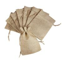 100pcs Burlap Packing Pouches Drawstring Bags 13x18cm Gift Bag Jute Packing Storage Linen Jewelry Pouches Sacks for Wedding Part