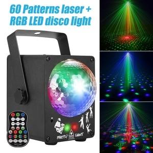 Image 1 - Dj 레이저 rgb 무대 조명 프로젝터 led 효과 램프 디스코 크리스마스 휴일 바 조명 파티 실내 램프 원격