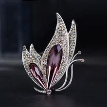 Novo 2021 direto da fábrica coreano-estilo elegante cristal all-match broche presente moda liga acessório feminino corsage
