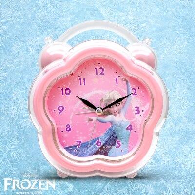 Дисней мультфильм принцесса Эша прикроватная будильник часы девочка% 27 спальня немой световой замороженный часы