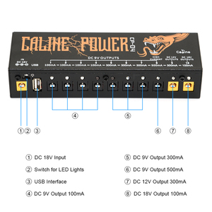 Image 3 - Caline CP 04 Guitar Pedal Power Supply 10 Isolated Output Power Tuner Short Circuit /Over current Protection Guitar Effect Power