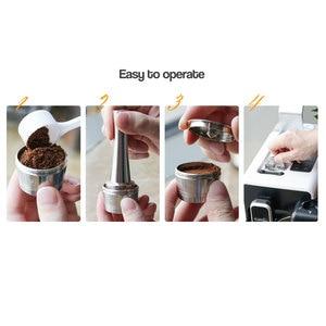 Image 2 - Koffie Capsule Cup Herbruikbare Compatibel Met K Vergoeding Hervulbare Crema Capsule Voor Caffitaly Tchibo Rvs Metalen Filter