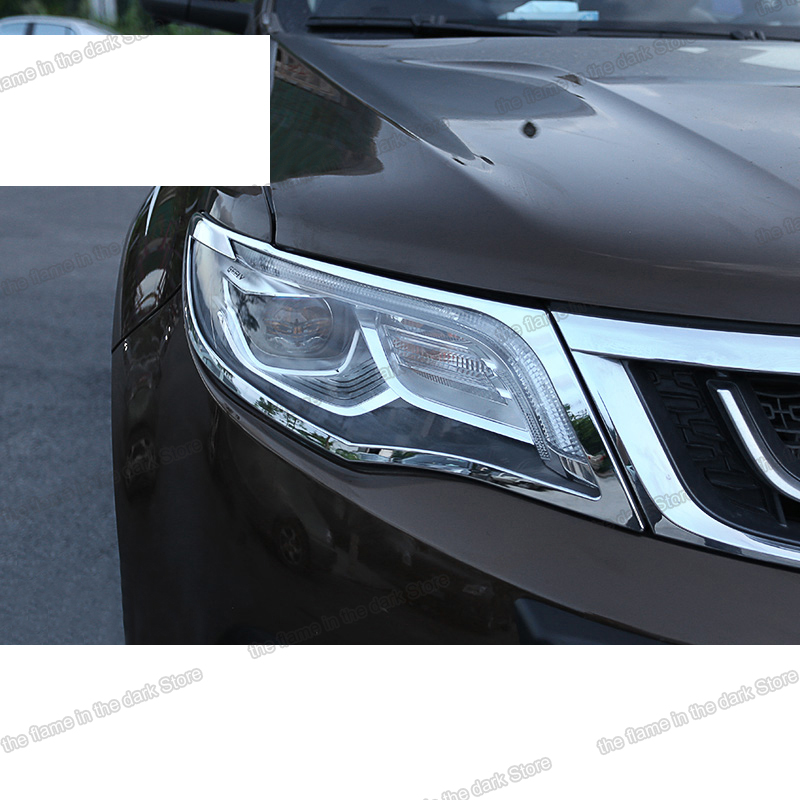 Lsrtw2017 Abs Car Headlight Frame Trims for <font><b>Geely</b></font> <font><b>Boyue</b></font> <font><b>Atlas</b></font> Emgrand 2016 2017 2018 2019 2020 Interior Mouldings Accessories image