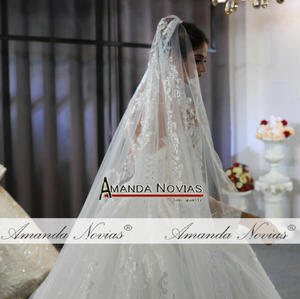 Image 2 - Szata mariage femme 2020 pełna koronkowa suknia ślubna suknie ślubne dla panny młodej