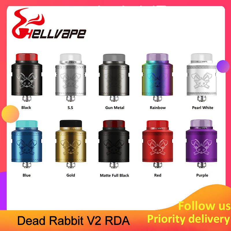 Hellvape Dead Rabbit V2  BF RDA Tank With 24mm Diameter Atomizer Vape & Adjustable Side Dual Airflow System E-cig Vape Tank