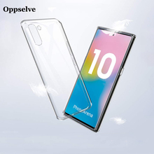 Oppselve Ultra Thin Clear Silicone Phone Case For Samsung Galaxy Note 10 Plus Transparent Soft TPU Non-Slip Design Capinha