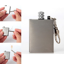 Outdoor Emergency Survival Camping Lighter Not Including Oil Keychain Barbecue Machine Portable Stainless Steel Waterproof