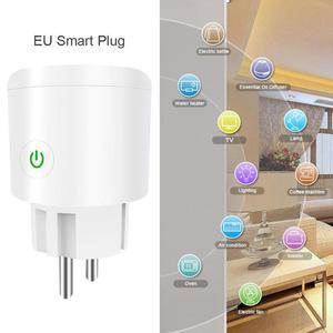 Image 1 - Akıllı tak Wifi akıllı soket Tuya akıllı yaşam App ab tak telefon zamanlama çıkış anahtarı uzaktan kumanda Alexa Google ev mini IFTTT