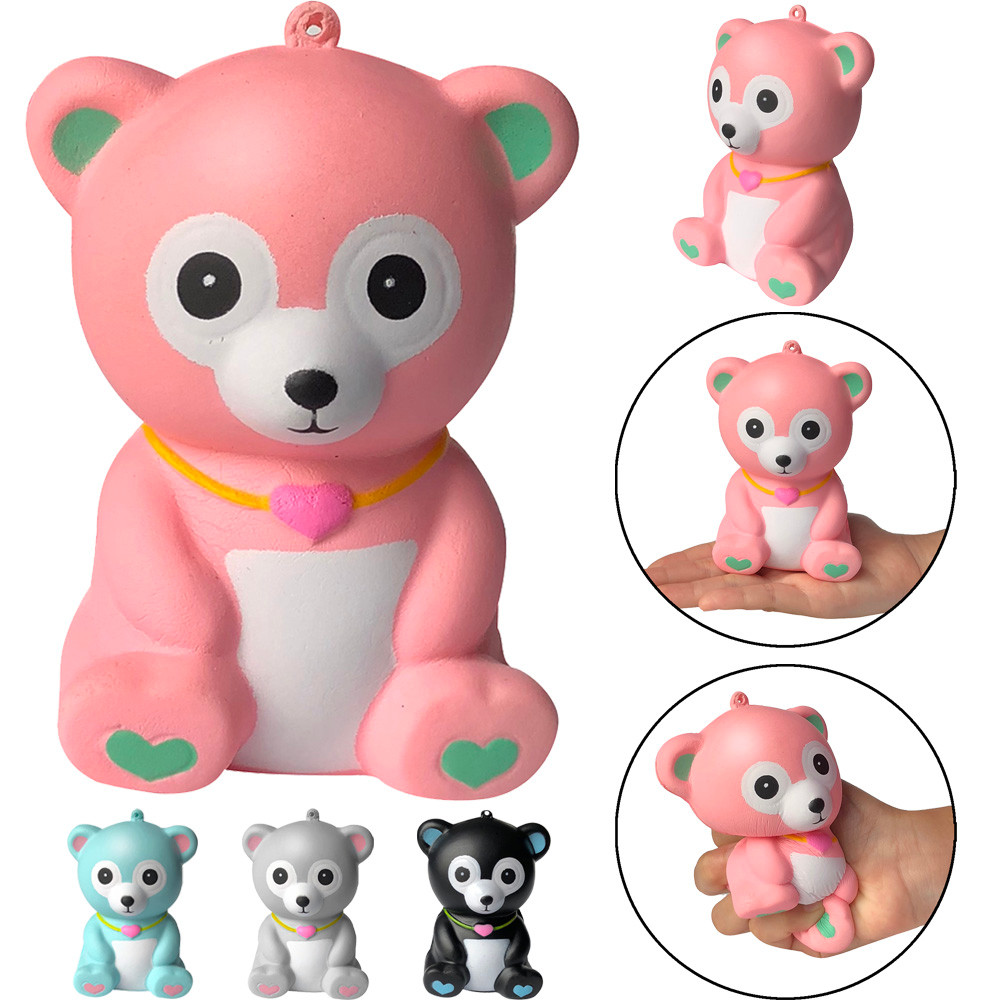 Cute Squeeze Kids Toy Bear Squishies Adorable Bear Slow Rising Cream Squeeze Scented Stress Relief Toys Gift L113