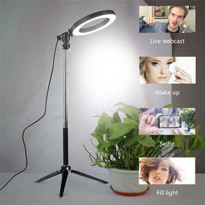 Light-Video Tripod-Fill-Lights Phone-Holder Selfie-Ring Photo-Studio-Lamp Dimmable LED