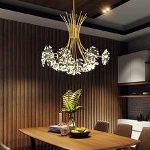 Dandelion Crystal Led Lights Chandelier Modern For Living Room Decoration Lights Bedroom Study Dining Room Interior Lighting