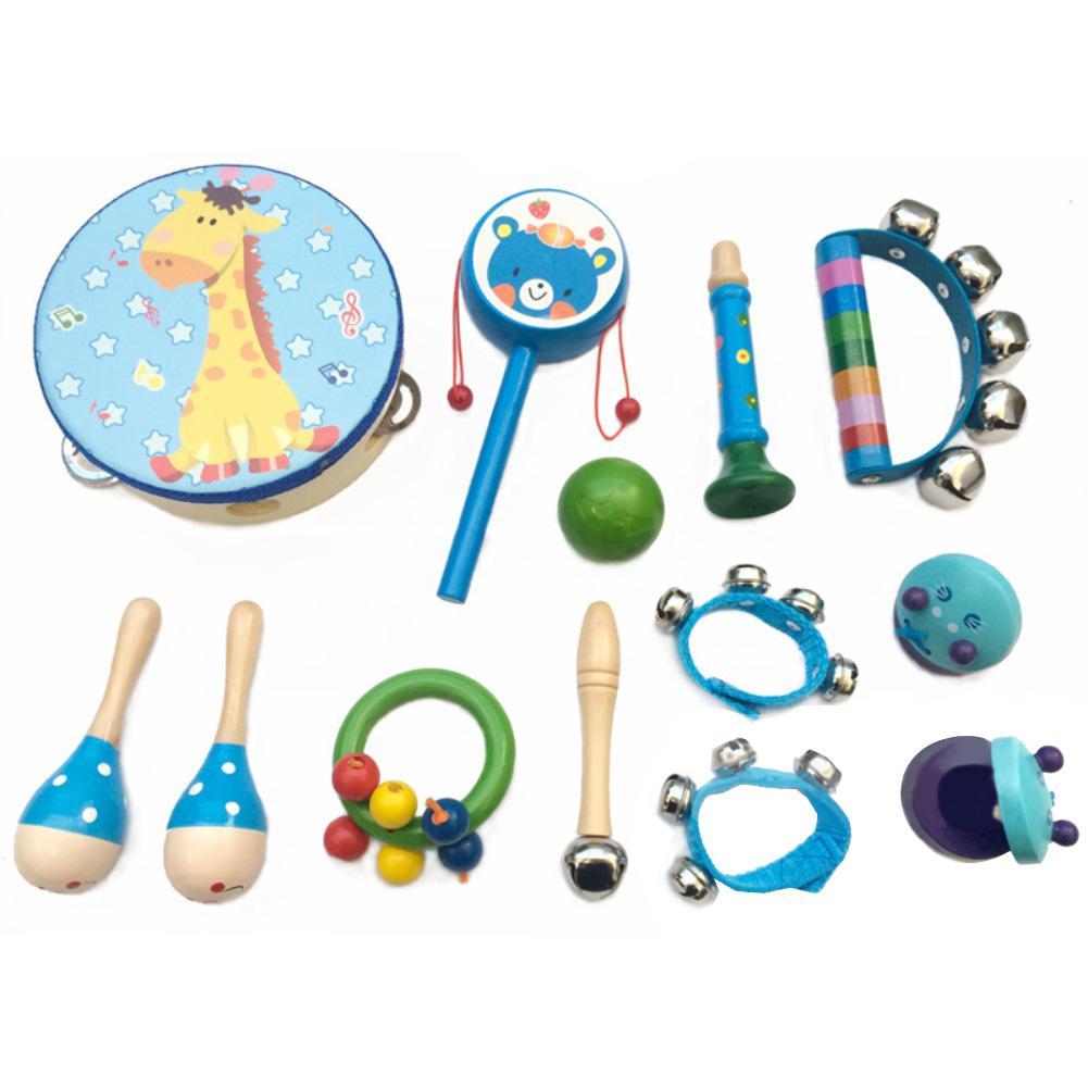 13 шт./компл. деревянный детский музыкальный перкуссионный инструмент помощь в обучении обучающая игрушка подарок для детей
