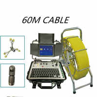sewerage drain pipe inpection camera 360 Degree Rotation Camera Video Endoscope  Pan Tilt Sewer Camera with stainless steel skid