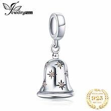 JewelryPalace рождественские звенящие колокольчики кубического циркония 925 пробы Серебряная очарование бусы для Для женщин Новая горячая Распродажа красивые подарки