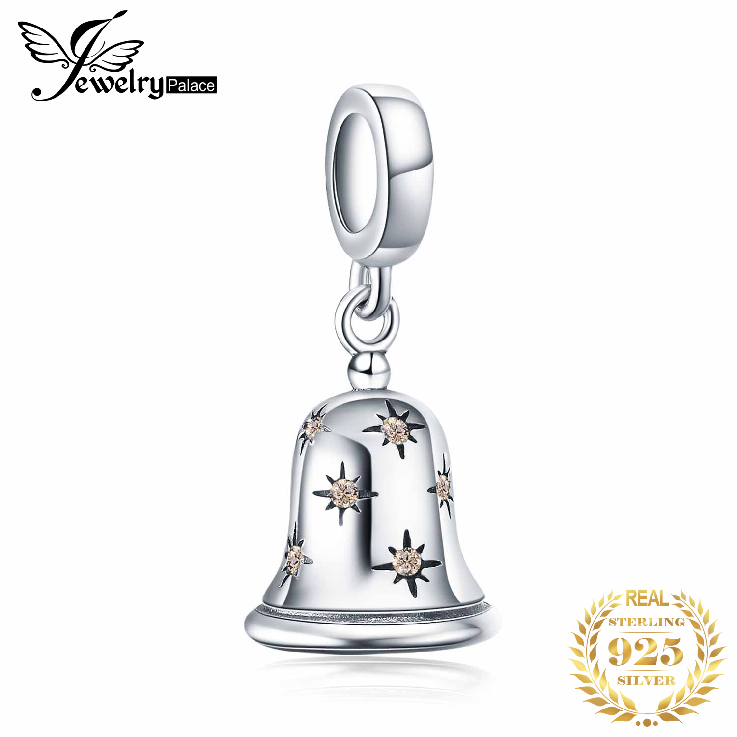 JewelryPalace Jingle Bell 925 Sterling Silver Beads Charms Silver 925 Original For Bracelet Silver 925 Original Jewelry Making