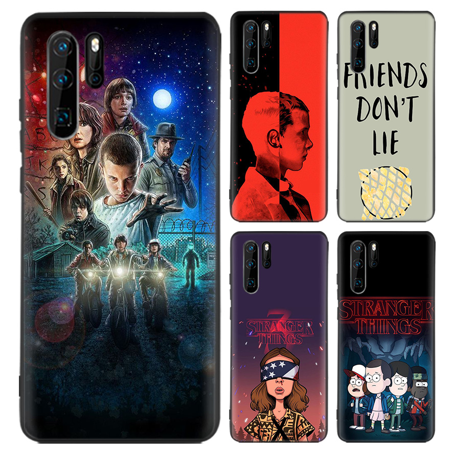 <font><b>stranger</b></font> <font><b>things</b></font> poster Black Coque <font><b>Case</b></font> For <font><b>Huawei</b></font> Mate 30 20 10 P30 <font><b>P20</b></font> P10 Pro <font><b>Lite</b></font> P Smart Z 2019 Soft <font><b>Phone</b></font> Cover image