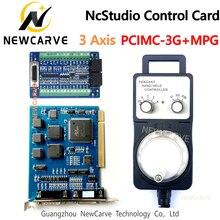 Ncstudio 3 축 제어 시스템 CNC 라우터 V5 시스템 용 전자 핸드 휠이있는 PCIMC 3G 모션 제어 카드 NEWCARVE