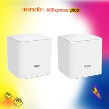Tenda mw5g 2 pces toda a malha casa sistema wi-fi sem fio com 11ac 2.4g/5.0ghz wifi roteador sem fio e repetidor, app controle remoto