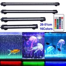 цена на Remote Control Aquarium Light RGB IP68  Color Underwater Air Bubble Lamp Submersible Fish Tank Lamp Make Oxygen for Fish D20