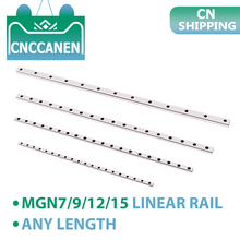 MGN7 MGN9 MGN12 MGN15 Linear Guide MGN Miniature Linear Rail Length 100mm - 1000mm without Slider Block for CNC 3D Printer Parts