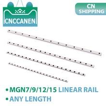 MGN7 MGN9 MGN12 MGN15 Linearführung MGN Miniatur Linear Schiene Länge 100mm - 100 0mm ohne Slider Block für CNC 3D Drucker Teile