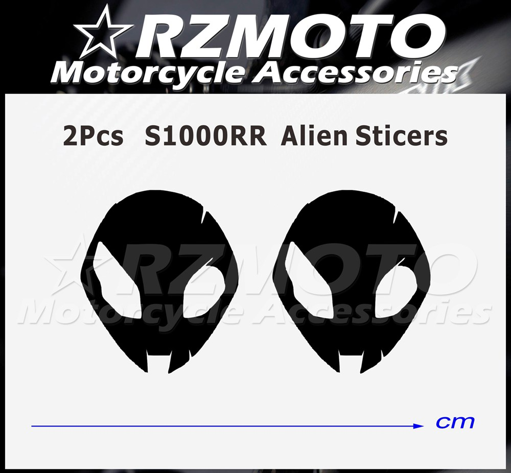 REFLECTIVE S1000RR Alien Head Logo Decals Stickers BMW HP4 NEW Logo 2015 4 PCS