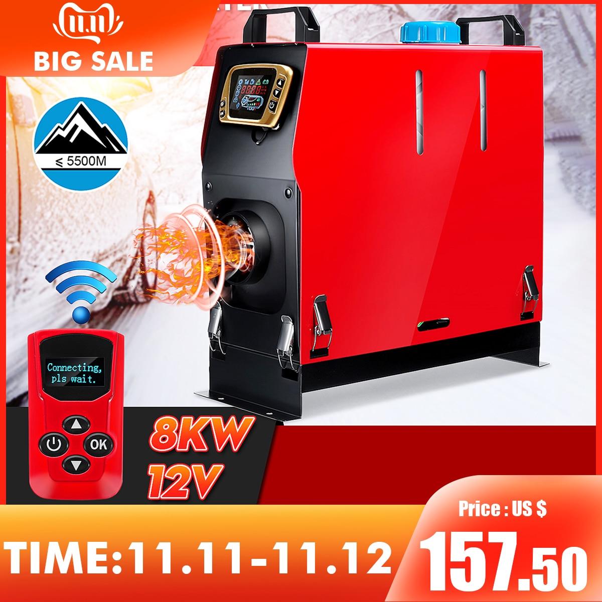 Air Diesel Heater 8KW 12V for Trucks Motor-homes Boat Bus Van UK