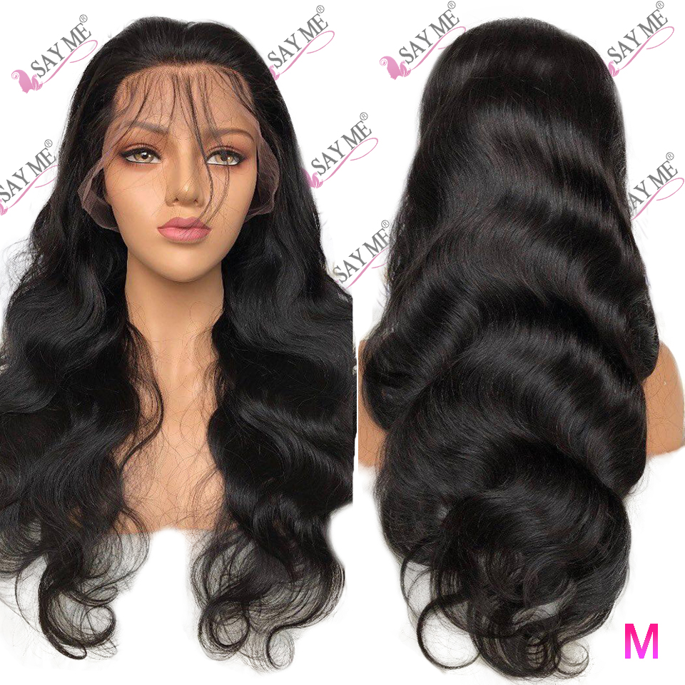 13*4 Lace Front Human Hair Wigs 150% 180% Non-Remy PrePlucked Brazilian Body Wave Lace Front Wig For Black Women Medium Ratio
