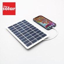 5W 6W 7.5W 10W 5V 6V כוח בנק פנלים סולאריים מטען עם יציאת USB שמש סוללה תשלום עבור טלפון נייד אנדרואיד iPhone HUAWEI