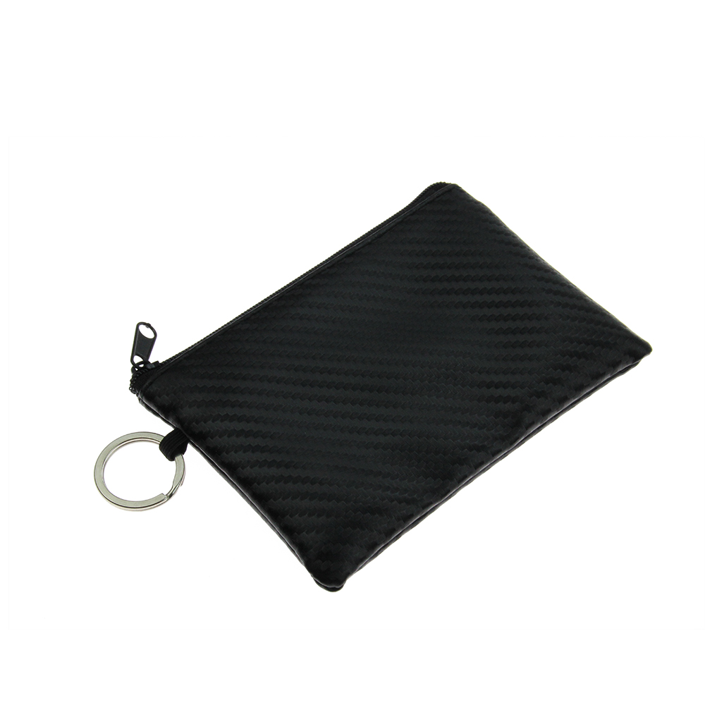 Women Men Leather Small Wallet Mini Coin Purse Card Holder Keychain Pouch Bags