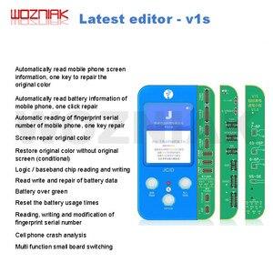 Image 2 - Jc V1S iphone 7 8 8p × 感光オリジナルカラータッチ衝撃バッテリー指紋snプログラマドットマトリックスx 11プロマックス