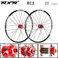 RXR carbon 26'' RC3 24Holes Disc Brake Mountain Bike Wheels QR hubs MTB Bicycle 7/11Speed Alloy Wheelset front 2 rear 5 bearings