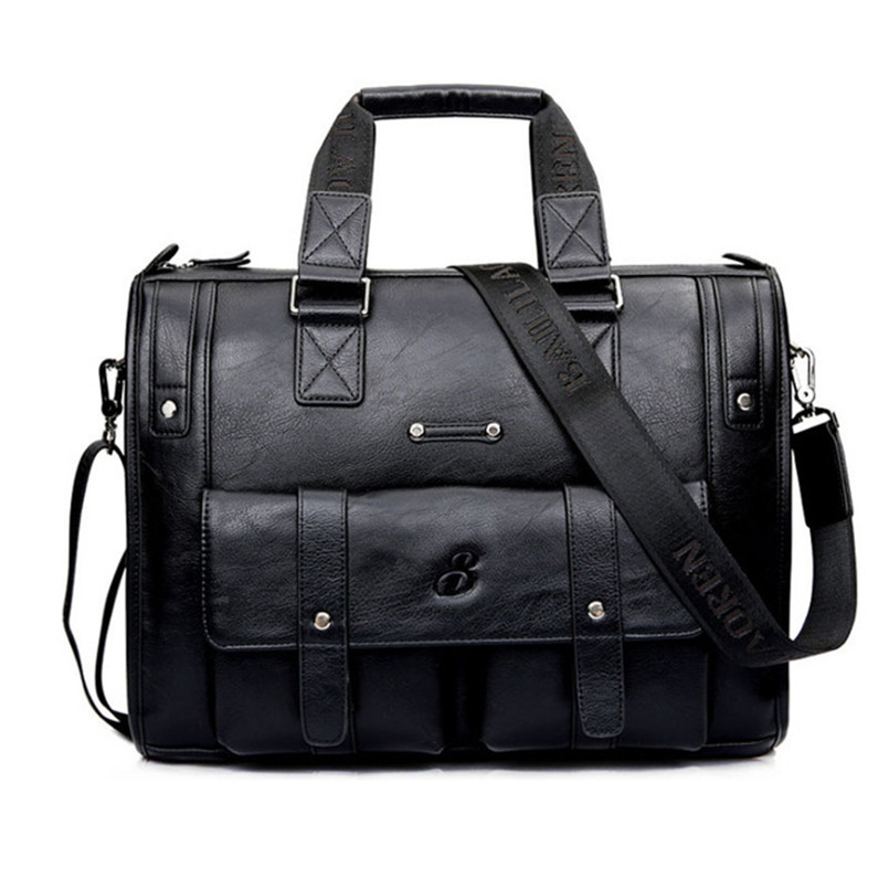 Hot Sale!New Leather Men Bag Briefcase Handbag Brand Designer Men Shoulder Bag Laptop Bag For 14