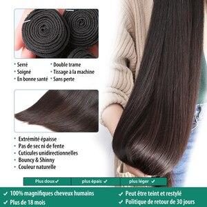 Image 2 - Rosabeauty Natural Color Long Peruvian Hair Straight Human Hair Weave 3 4 Bundles Unprocessed Raw Virgin Hair 30 28 Inches