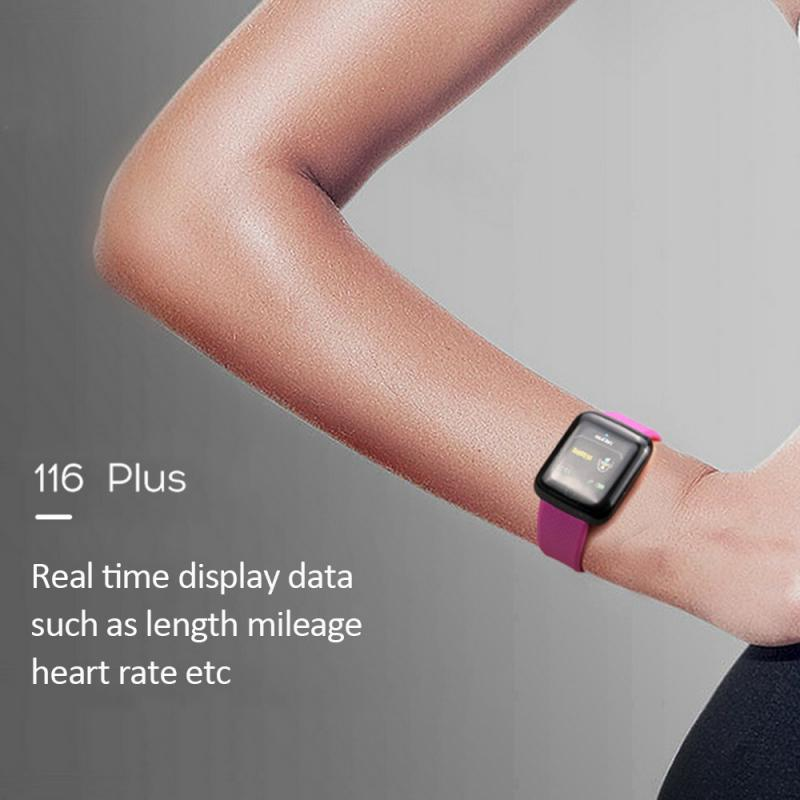 116Plus Smart Band Watch Bluetooth Heart Rate Blood Pressure Monitor Fitness Tracker Wristbands Wearable Devices Pedometers 4