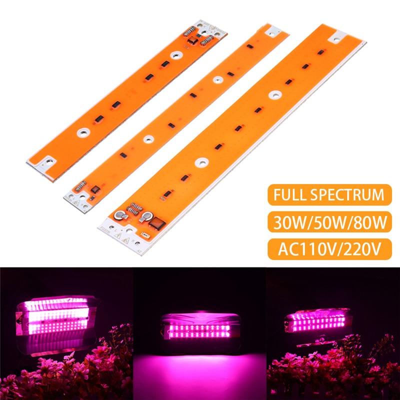 30/50/80W Full Spectum LED COB Chip Grow Light Source For Indoor Garden Plants Hydroponics Grow AC110V/220V