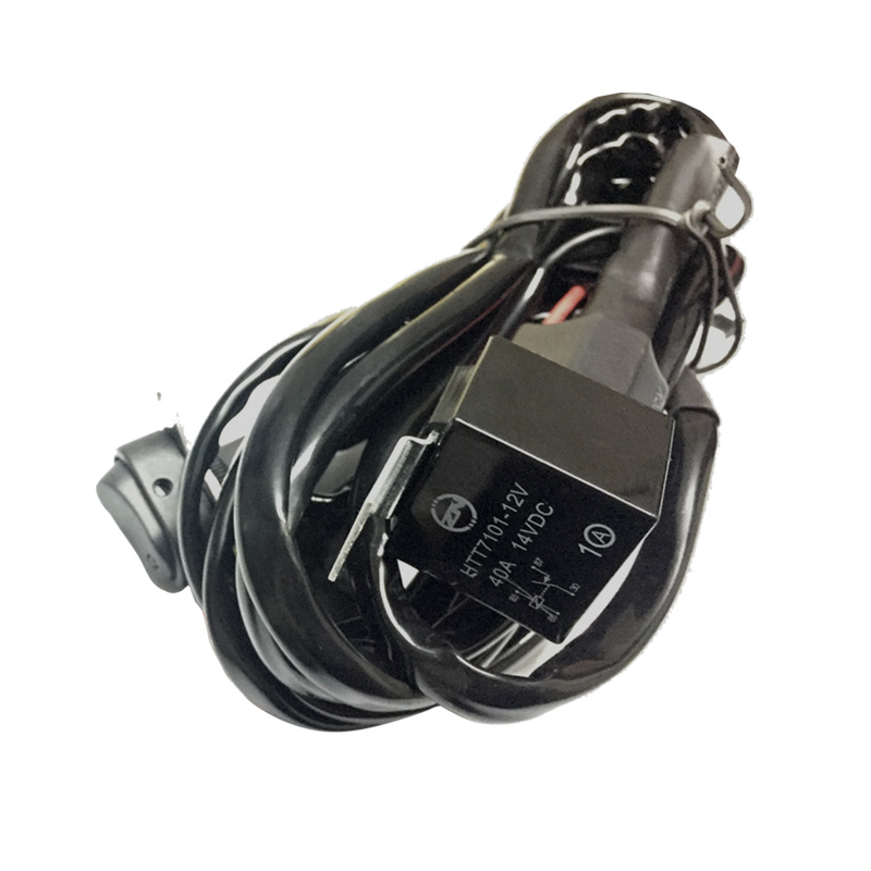 Switch wire with relay For Motorcycle LED Auxiliary Fog Light Driving Lamp|  - title=