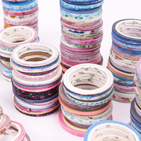 100 Rolls Washi Tape Folie Goud Skinny Decoratieve Masking Scrapbooking Washi Tapes Diy Handbook Afplakband