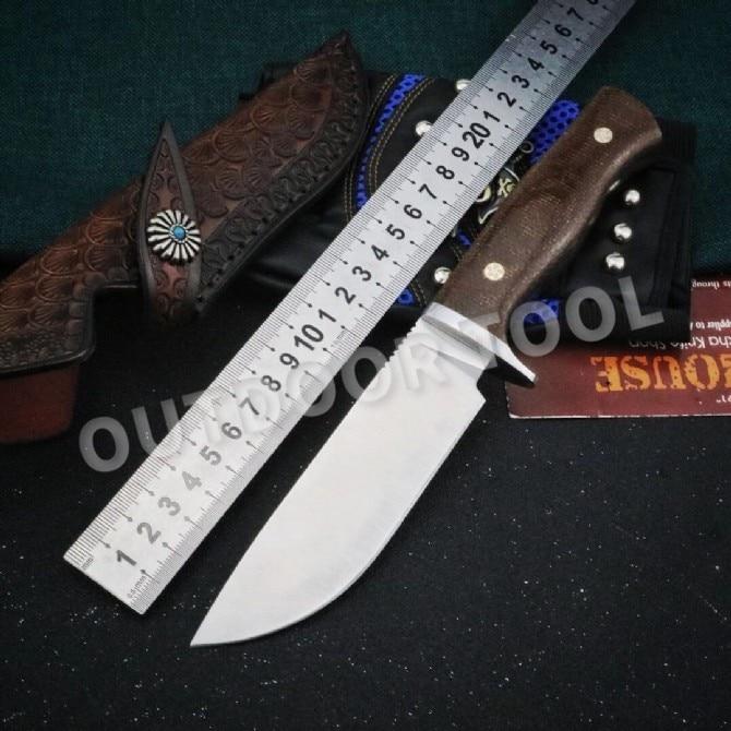 Охотничий нож с фиксированным лезвием M390, охотничий нож с деревянной ручкой, походный тактический нож с футляром, уличный нож