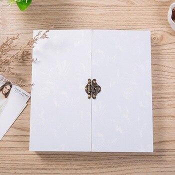 White Lock Photo Album/ Scrapbook Album // Wedding photo Album // Wedding Guest Book/White scrapbook album gift set