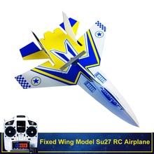 Fixed Wing Model Su27 RC Airplane With Microzone MC6C Transm