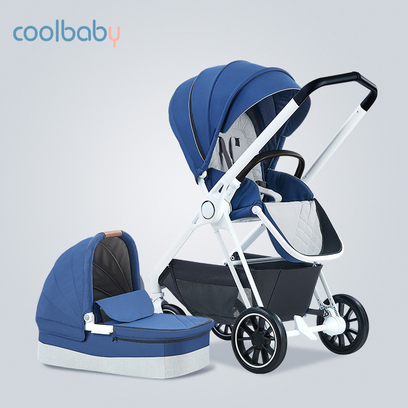 Multifunctional Baby Trolley High-view Baby Trolley Can Sit On Two-way Portable Baby Trolley