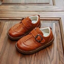 Dzieci maluch Boys Baby mieszkania brązowy czarny anglia skórzane buty dla niemowląt małe buty dla chłopców 1 2 3 4 5 6 7 lat nowy 2020