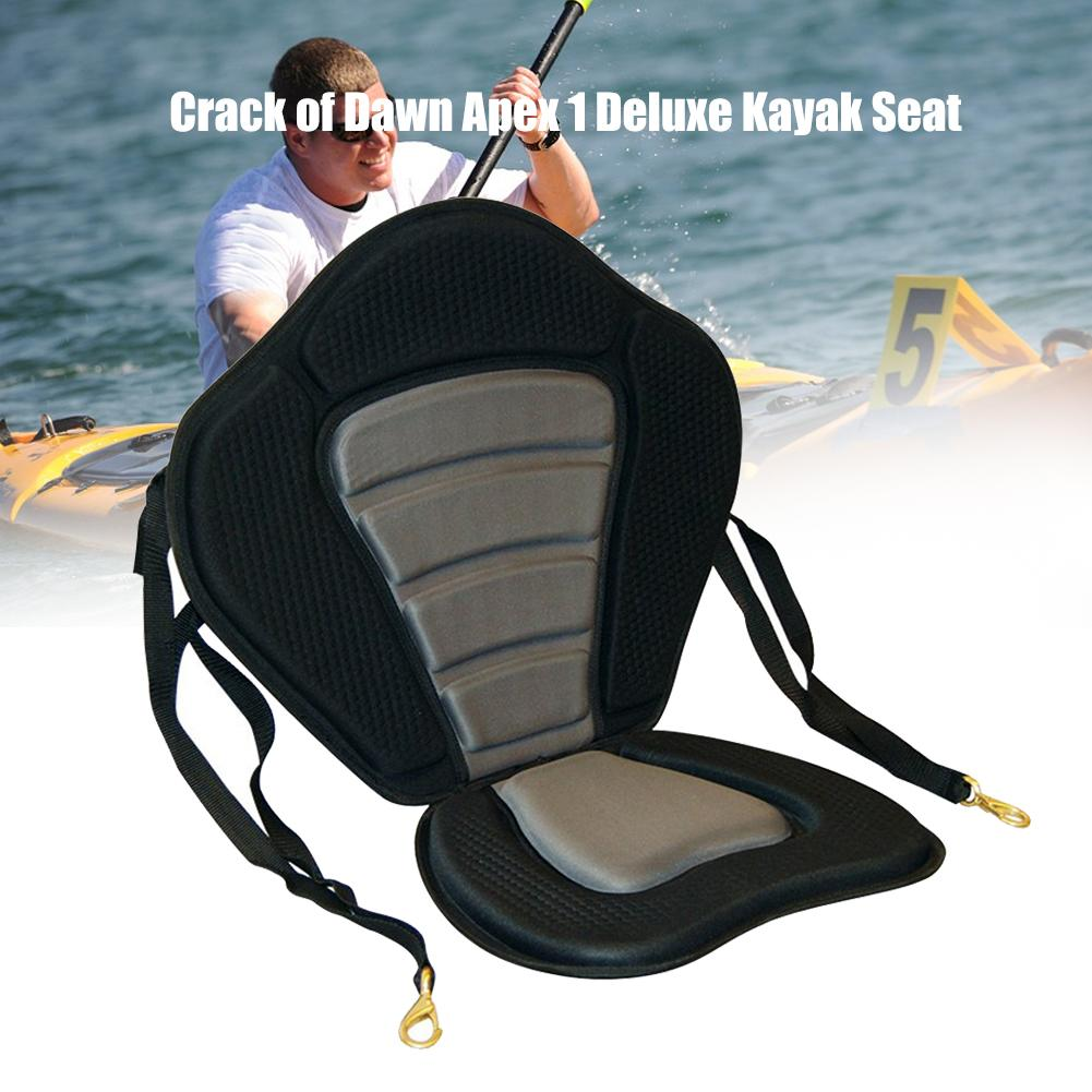 Universal Soft Non-Slip Padded Base Adjustable Kayak Padded Seat Canoe Sit On Top Boat Back Rest Cushion
